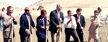 Groundbreaking for Los Vaqueros in 1994