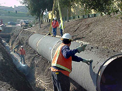 The 21-mile pipeline was completed in 2003
