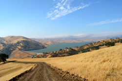Looking over the Los Vaqueros Dam